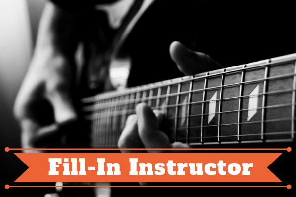 Fill-In Instructor